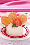 Ice-cream with cookies. Stock Images
