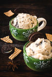 Ice cream with cookies Royalty Free Stock Photography