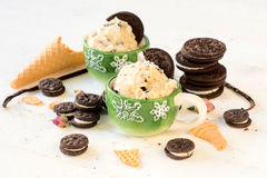 Ice cream with cookies Royalty Free Stock Images