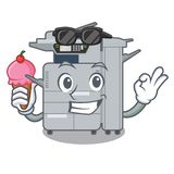 With ice cream copier machine isolated in the cartoon. Vector illustration royalty free illustration