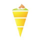 Ice Cream Cornet. Illustration of Ice Cream Cornet isolated on a white background Stock Photography