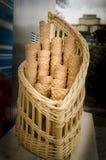 Ice Cream Cornets stock photo