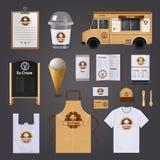 Ice Cream Corporate Identity Design Royalty Free Stock Photos