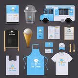 Ice Cream Corporate Identity Icons Set Royalty Free Stock Photography