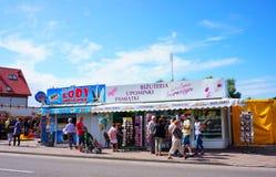 Ice cream counter and souvenir shop Stock Photography