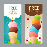 Ice Cream Coupon Set. Vector Stock Photography
