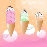 Ice cream. Cover ice cream menu with place for text. Vector illustration Royalty Free Stock Image