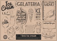 Ice cream Craft Paper Placemat Stock Photos