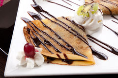 Ice cream Crepe Stock Photography