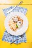 Ice cream crepe Stock Photo