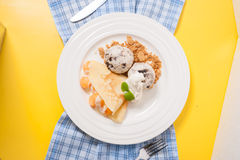 Ice cream crepe Royalty Free Stock Photos