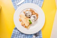 Ice cream crepe Royalty Free Stock Photos