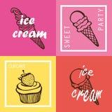 Ice cream and cupcake Stock Image