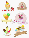 Ice cream and cupcakes Royalty Free Stock Images