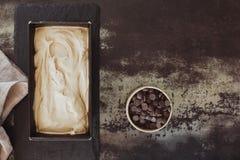 Ice cream with dark chocolate chips Royalty Free Stock Photo