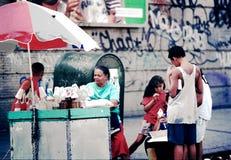 Ice cream seller - New York 1995 Stock Images