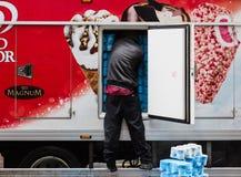Ice Cream Delivery in New York City Stock Image