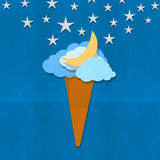 Ice cream design on hand made paper Royalty Free Stock Photography