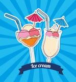 Ice cream design Stock Images