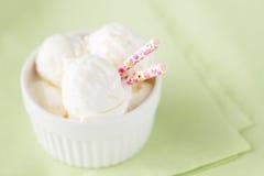 Ice cream dessert. Closeup view Royalty Free Stock Photo