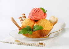Ice cream dessert Stock Photo