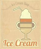 Ice Cream Dessert Card Stock Photo