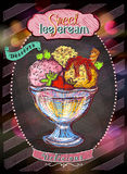 Ice cream and desserts menu design. Vector illustration stock illustration