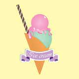 Ice cream. Desserts. Vector illustration Stock Photo