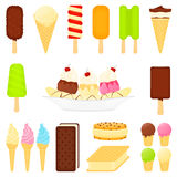 Ice Cream Desserts Stock Photo