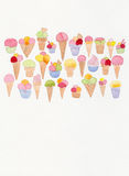 Ice Cream doodle drawing Royalty Free Stock Photos