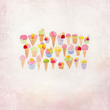 Ice Cream doodle drawing Royalty Free Stock Photography