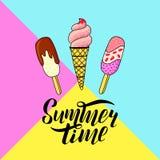 Ice-cream doodle vector illustration