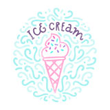 Ice Cream Doodles. Stock Images