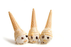 Ice cream dwarfs Stock Photos