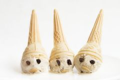 Ice cream dwarfs. On a white background Stock Photography