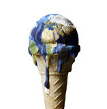 Ice cream earth Royalty Free Stock Images
