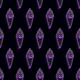 Ice Cream Easy Pattern Linear-34 vector illustration