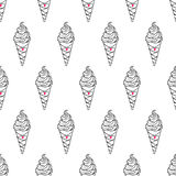 Ice Cream Easy Pattern Linear-16 Stock Photography