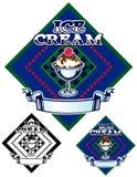 Ice Cream Emblem Stock Photos