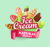 Ice cream emblem. Royalty Free Stock Image