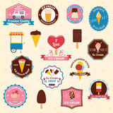 Ice cream emblems set Royalty Free Stock Images