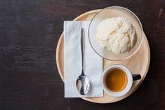 Ice cream with espresso coffee Royalty Free Stock Image