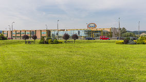 Ice cream factory in Nowy Sacz Royalty Free Stock Image