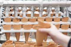 Ice-cream on factory Royalty Free Stock Photos