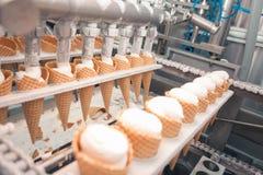 Ice-cream on factory Stock Photos