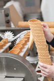 Ice-cream on factory Stock Photography