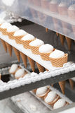 Ice-cream on factory Stock Images