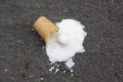 Ice cream falling Royalty Free Stock Photo