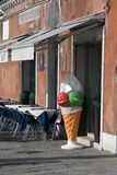 Ice Cream Figure in Venice Royalty Free Stock Images