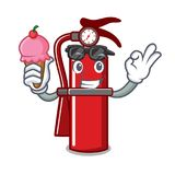 With ice cream fire extinguisher character cartoon. Vector illustration Stock Photos